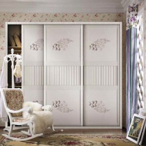 Ladies Living Room Beautiful Melamine Wood Wardrobe pictures & photos