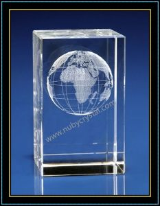 Crystal 3D Laser Etched Globe pictures & photos