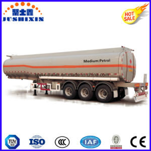 3 Axle 50cbm Carbon Steel Flammable Fuel/Oil/Diesel/Petrol/Crude Oil Utility Tanker Truck Semi Trailer with 4 Silo pictures & photos