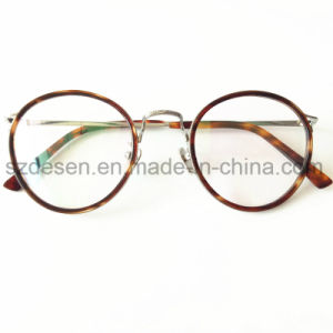 Custom Logo Printing Fashion Optical Frame with Acetate Temple Eyeglasses pictures & photos