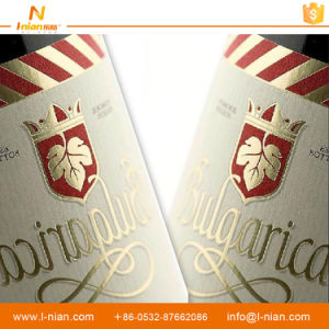 Custom Drink Bottle Gold Stamping Vinyl Label Sticker