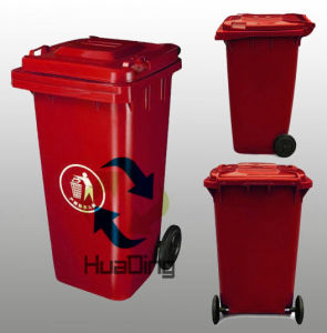 Outdoor Plastic Dustbin 240L with Red pictures & photos