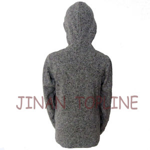 Women Long Zipper Cationic Hoody Microfleece Jacket pictures & photos