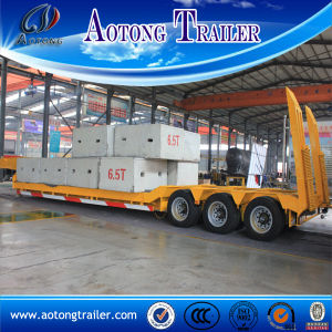 3 Row 6 Line Low Loader Trailer, 100 Tons Lowboy Trailers for Sale pictures & photos