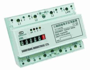 Three Phase Din-Rail Energy Meter (IEC61036)
