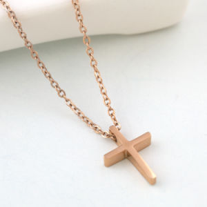 Custom Jewelry Fashion Stainless Steel Rose Gold Religious Cross Pendants pictures & photos