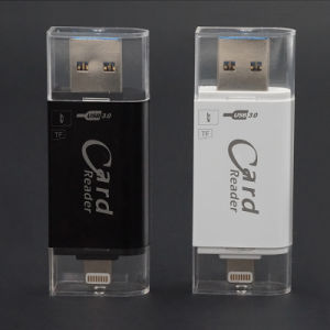 High Speed 3.0 Microsd+SD OTG Card Reader for iPhone Android (YT-R008) pictures & photos