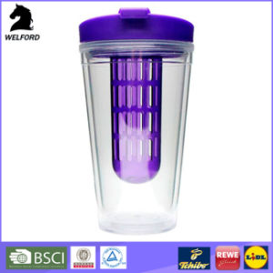 Plastic Double Wall Travel Mug with Infuser pictures & photos