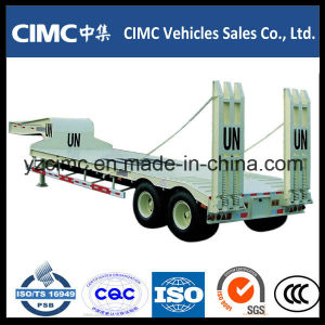 Hot Sale Cimc 2 Axle Low Bed Trailer 40 Ton pictures & photos