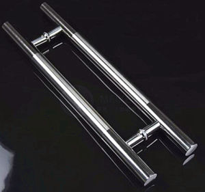 Satinless Steel Glass H Door Handle pictures & photos