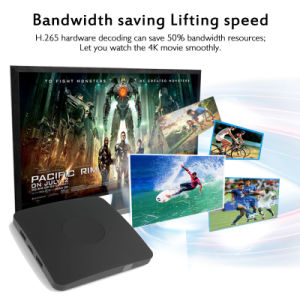 Smart TV Box Multimedia Player 4k S905X TV Box 2g/8g Android 6.0 HDMI WiFi USB 2GHz pictures & photos