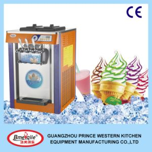 Hot Sale Ice Cream Machine Made in China/ 3 Colors Desktop Soft Ice Cream Maker with High Quality pictures & photos