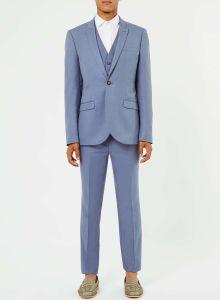Blue Bespoke Fitted Dinner Wedding Suit for Men