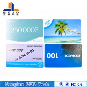 Coated Paper Silk Screen Smart RFID Card for Travel Tickets pictures & photos
