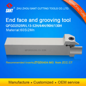 Zhuzhou Sant Toolholder Surface Grooving Tool Holder Qfgd2525L13-52h Matched Inserts Ztgd0404-Mg pictures & photos