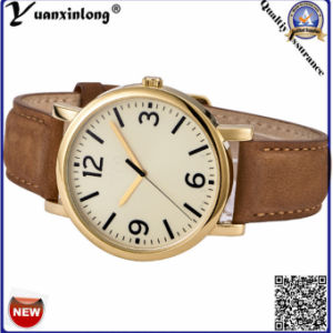 Yxl-120 New Design Gold Plate Watches Mens Luxury Business Men′s Wrist Watch Leather Quartz Gift Watch Wholesale OEM Clock pictures & photos