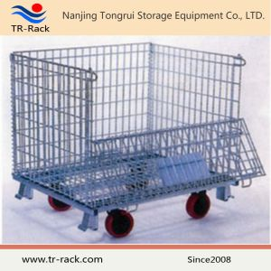 Stackable Steel Wire Mesh Storage Cage for Warehouse storage pictures & photos