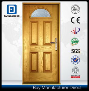Economical Hand Craft Durable Insulated Fiberglass Prehung Exterior Door pictures & photos
