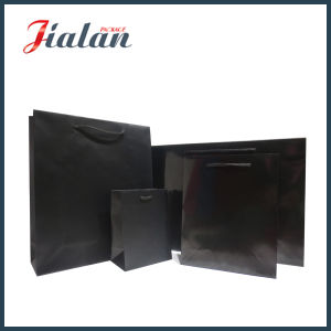 Paper Shopping Gift Bags Laminated Factory Price Black Color pictures & photos