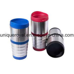 16 Oz. Stainless Steel Cup with Ringed, Slip-Proof Grip pictures & photos