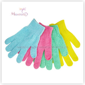 Bathroom Products Assorted Colors Polyester Bath Shower Glove 20× 12cm pictures & photos