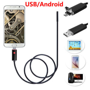 HD 2 in 1 Endoscope Android PC USB 7 mm 6 LED Waterproof Endoscope Inspection Camera pictures & photos