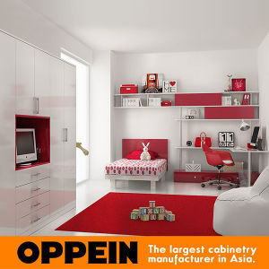Oppein Lovely Lacquer Children Bedroom Set Kids Bedroom Cabinets (OP16-KID04) pictures & photos