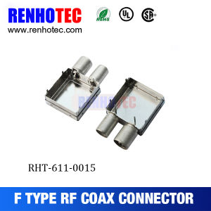 Shielded Double F Type Connectors for PCB pictures & photos