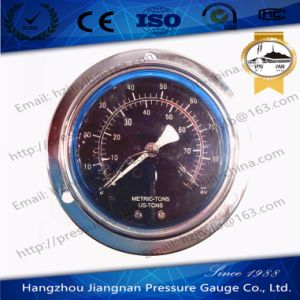 100mm 4′′ Back Connection Stainless Steel Oil Filled High Pressure Gauge with Front Flange pictures & photos