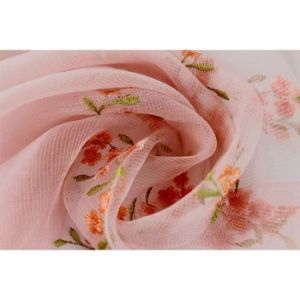 Fashion Custom Dyed Silk and Wool Scarf with Embroidery pictures & photos