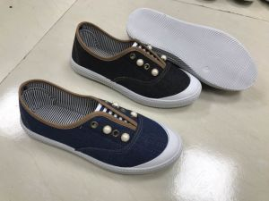 Beautiful Ladies Casual Canvas Shoes with Rhinestones