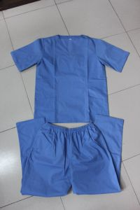 Short Sleeved Nurses′ Clothes, Doctors′ Uniforms pictures & photos