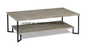 Exquisite Design Luxury Furniture for Hotel Metal and Wood Coffee Table pictures & photos