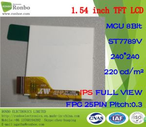 "1.54"" IPS 240*240 MCU 8bit 25pin Customized Full View TFT LCD Display pictures & photos"