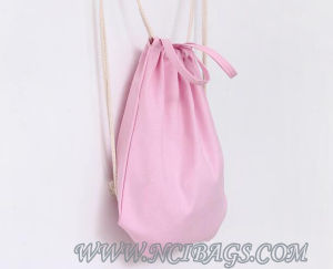 2017 Promotion  Shopping Storage Drawstring Handbags Canvas Backpack Bag