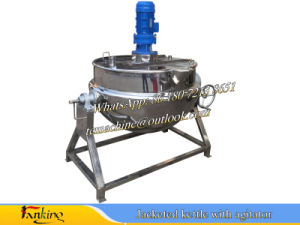 500L Steam Heating Tilting Jacket Kettle Industrial Cooking Pot Cooking Pan Frying Pan pictures & photos