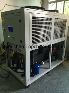 China Topchiller Brand Thermoelectric Air Cooled Water Chiller 45kw  Refrigeration Capacity With Copeland Scroll Compressor