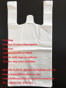 Poly T-Shirt Bag Hand Lenth Handle Bag Shopping Bag pictures & photos