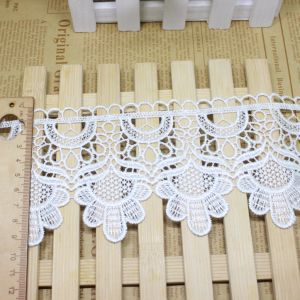 Stock Wholesale 9.5cm Width Embroidery Nylon Lace Polyester Embroidery Trimming Fancy Lace for Garments Accessory & Home Textiles & Curtains Decoration pictures & photos