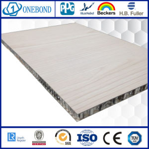 Yellow Wood Grain Color HPL Aluminum Honeycomb Panels for Ship Decoration pictures & photos