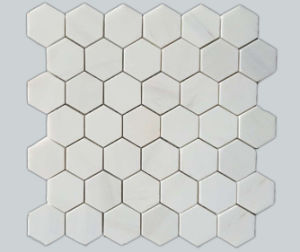 Italy 2017 Polished White Hexagon Mosaic Tiles for Intenal Decoration pictures & photos