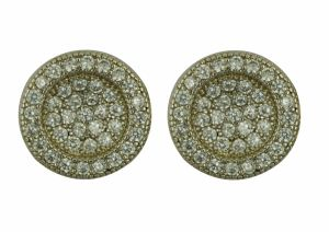 925 Sterling Silver CZ Inlay Round Earrings Jewellery pictures & photos