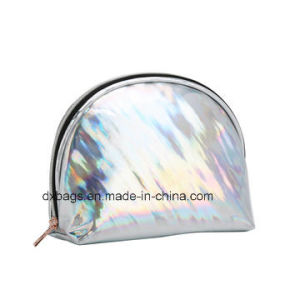 Latest Laser PU Leather Cosmetic Bags for Women, Small Pocket in Side Stylish and Fashion Design pictures & photos