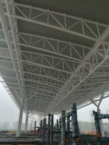 Steel Structure Space Pipe Truss for Toll Station pictures & photos