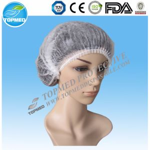 Disposable Nonwoven PP Strip Cap Mob Cap with Doubel Elastic pictures & photos