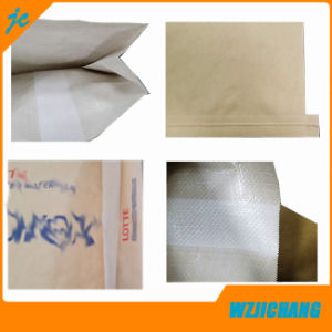 Custom Logo Kraft Paper Three Composite Paper and Polypropylene Woven Composite Cement Bags for Industrial Use pictures & photos