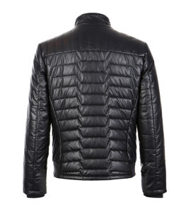 Black Casual Pakistan Men Leather Jacket pictures & photos