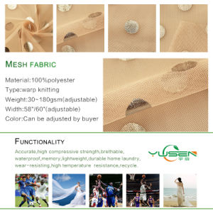 Cycle Shape Jacquard Mesh Net Fabric pictures & photos