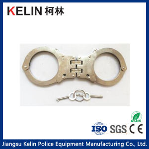 Double Lock System Hc-03W Carbon Steel Handcuff for Police pictures & photos