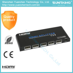 2.0V HDMI Adapter 1*4 Ports 1080P HDMI Splitter pictures & photos